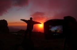 Fotografando pôr do sol no Aconcágua - Foto de Maximo Kausch