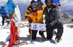 Mike Fairman e Jorge Spur no cume em fevereiro de 2013