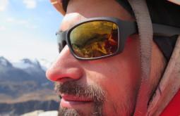 Paisagem refletida nos óculos de Pedro - Foto de Paula Kapp