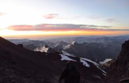 Por do sol desde 6600m - Foto de Edu Tonetti