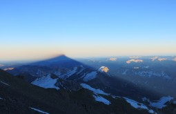 Sombra do Aconcagua desde 6500m - Foto de Julian Beerman