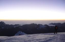 Caminho ao cume do Huayna Potosi