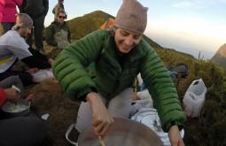 Cozinhando no Pico Paraná