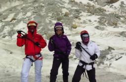 No Curso de Gelo na Bolívia