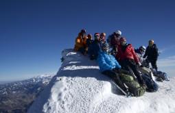 Parte da equipe no cume - Foto de Rafael Penna