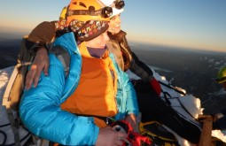 Paula Kapp e Claudia Bento no cume