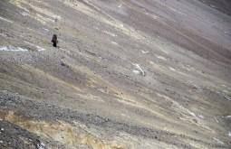 ACONCAGUA - Gary Erwin subindo para Nido de Condores a 5500m, o segundo acampamento na montanha.jpg - Foto Gabriel Tarso