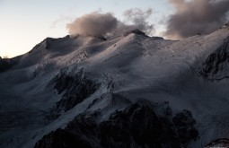 ACONCAGUA - Glaciar oeste do Cuerno visto de 5050m - Foto Gabriel Tarso