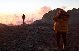 ACONCAGUA - Maximo e Facundo curtindo por do sol a 6000m no acampamento 3 - Foto Gabriel Tarso