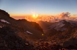 ACONCAGUA - Por do sol desde colera a 6000m - Foto Gabriel Tarso