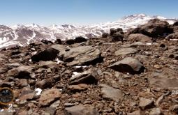 Aspecto do cume do Monte Parofes com 5845m - Foto de Maximo Kausch - Imagem da Garmin VIRB