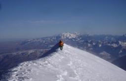 Chegando ao cume do Illimani