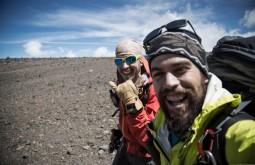 KILI - Gabriel Tarso e Maximo Kausch a 3700m próximos à Lava Tower - Foto Gabriel Tarso