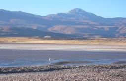 Lagoa salgada na base do Quemado