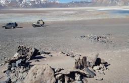 Ruínas incas encontradas pela equipe a 4400m no caminho ao Sierra Nevada - Foto de Maximo Kausch