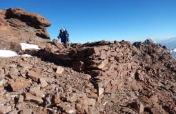 Ruínas incas imensas no cume do Copiapó