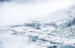 Glaciar num dia úmido