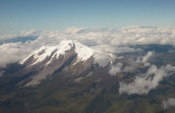 Vista aérea do Cayambe