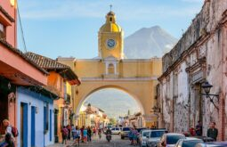 O Arco de Santa Catalina em Antigua Guatemala