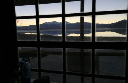 Vista do refugio Laguna Santa Rosa