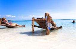 Praia em Zanzibar
