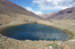 Lagoa vista durante o trekking