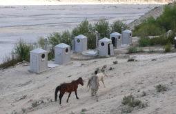 Banheiros em Urdukas