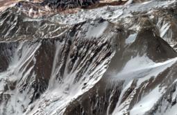 A montanha virgem mais alta dos Andes com 5580m